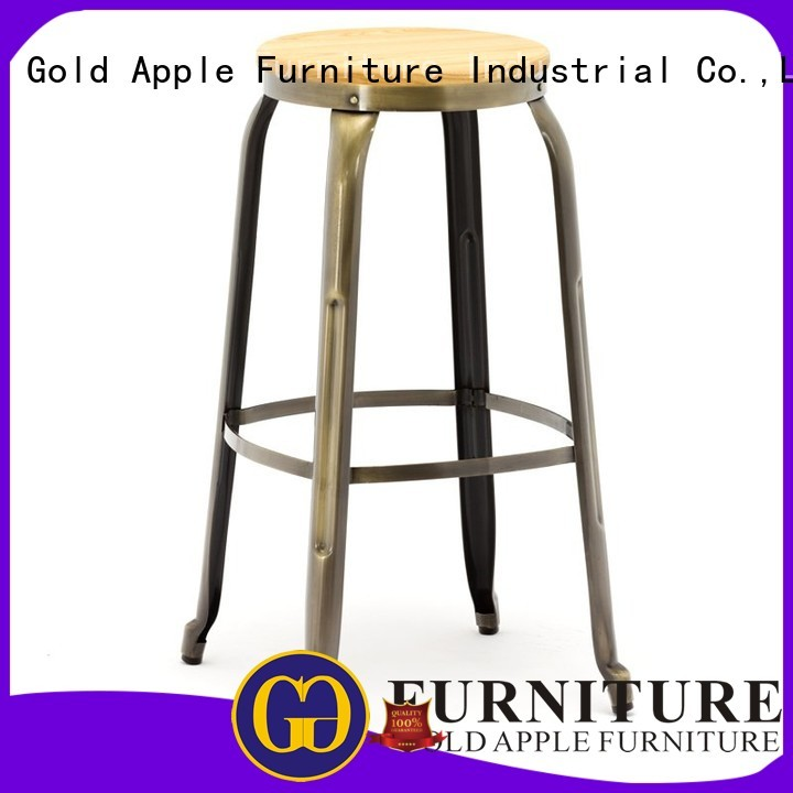 Quality Gold Apple Brand bistro bar stool supplier