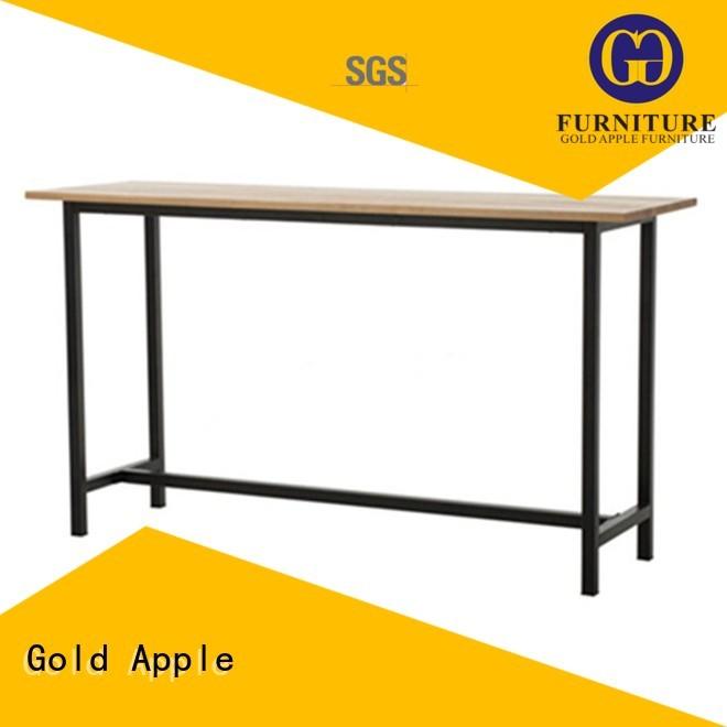 Custom outdoor modern bar table quality Gold Apple