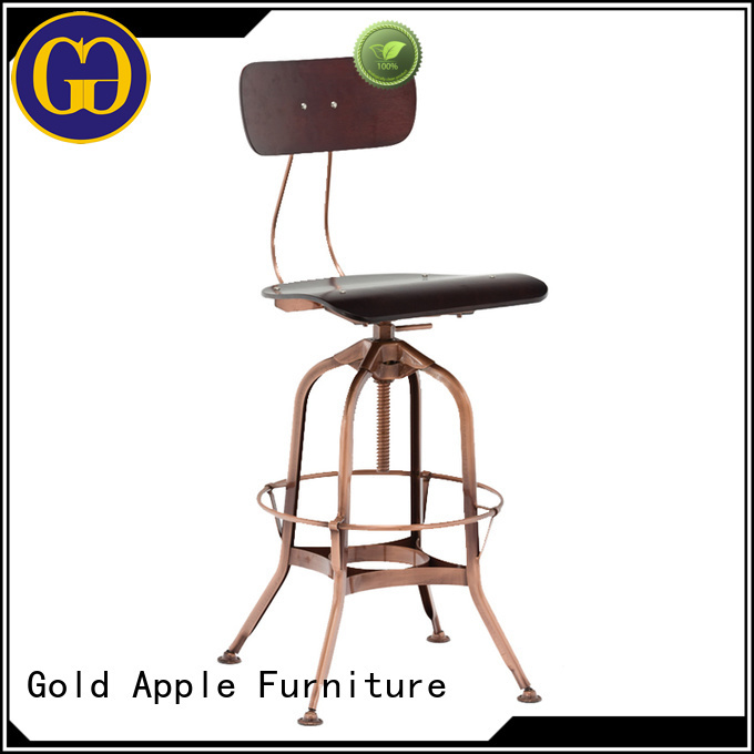 metal top plywood Gold Apple Brand wooden swivel bar stools supplier