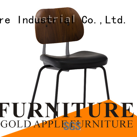 Gold Apple Brand metal room upholstered dining chairs with metal legs