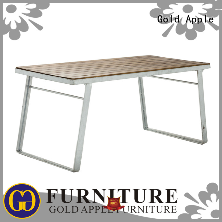 chairs durable OEM wood patio table Gold Apple
