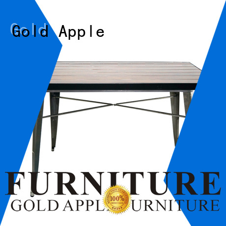 party Custom modern wood patio table coffee Gold Apple