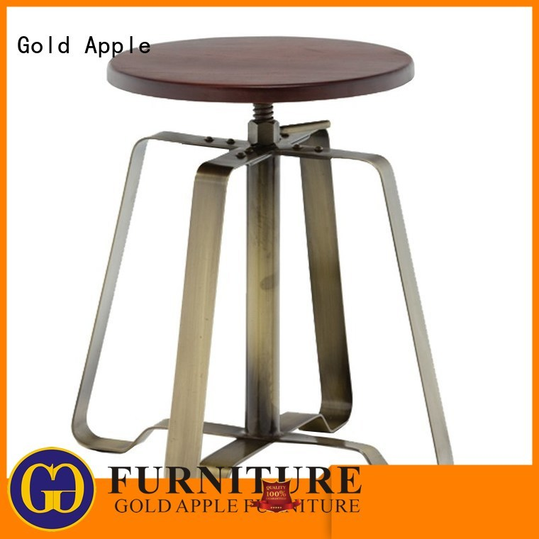dining low stool adjustable stacking Gold Apple company