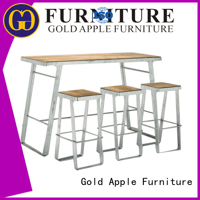 table bar stool table set bar modern Gold Apple company