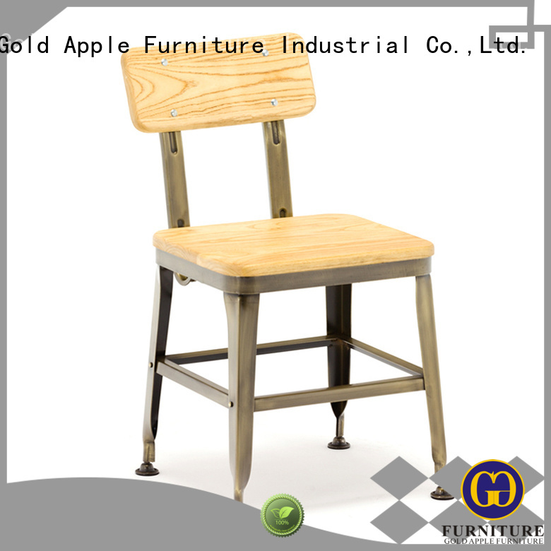 Quality Gold Apple Brand selling metal dining chairs