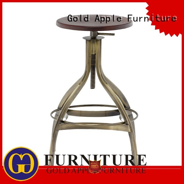 kitchen height antique Gold Apple Brand tall counter stools manufacture