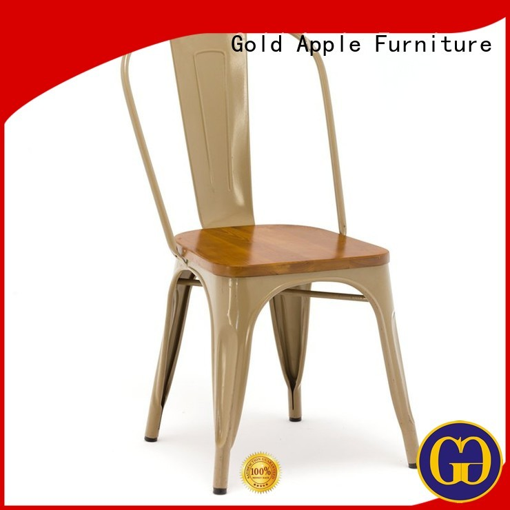 Gold Apple Brand steel french metal dining chairs living factory