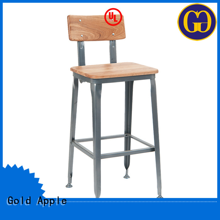 Gold Apple Brand stools bistro round wooden swivel bar stools manufacture