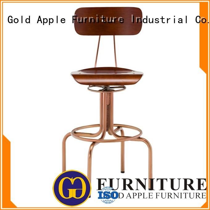 adjustable bistro vintage timber wooden stool chair Gold Apple Brand