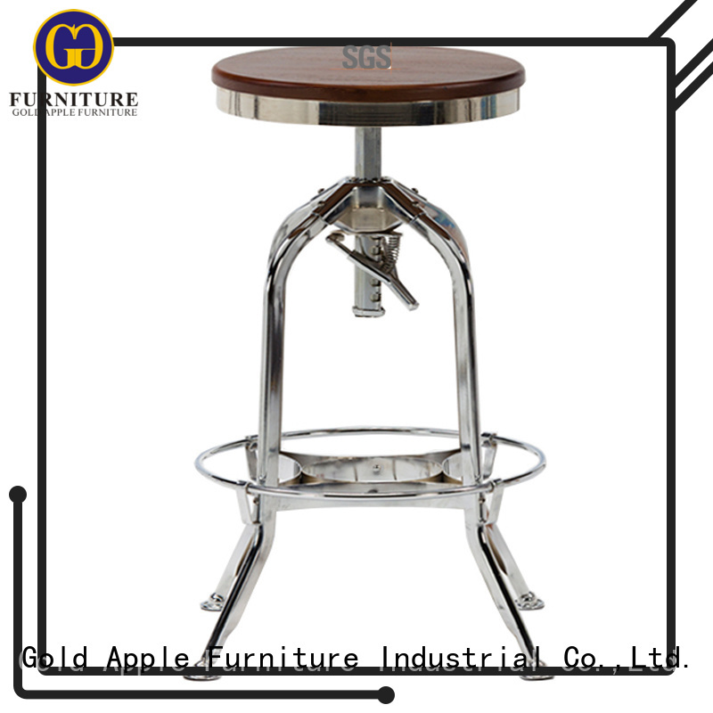 without Custom low wooden swivel bar stools chairs Gold Apple