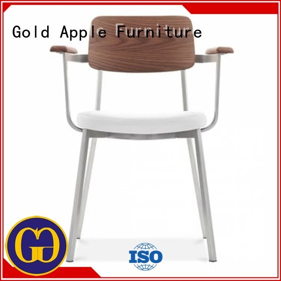 coffee chairs leather Gold Apple Brand upholstered dining chairs with metal legs manufacture