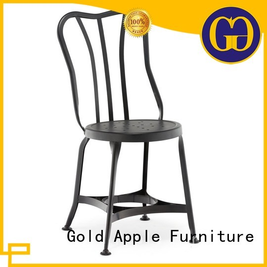 metal dining chairs with arms galvanized wire sales Warranty Gold Apple