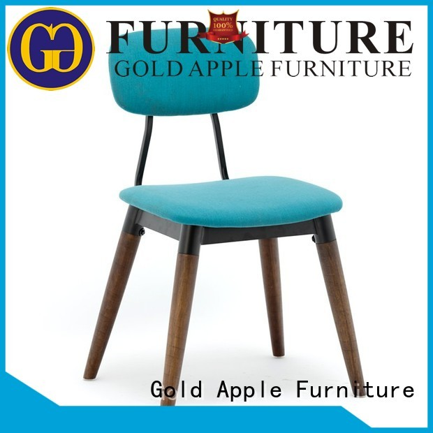 Gold Apple Brand sales veneer metal dining chairs with arms electroplated supplier
