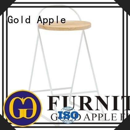 top restaurant bistro Gold Apple Brand wooden stool chair factory