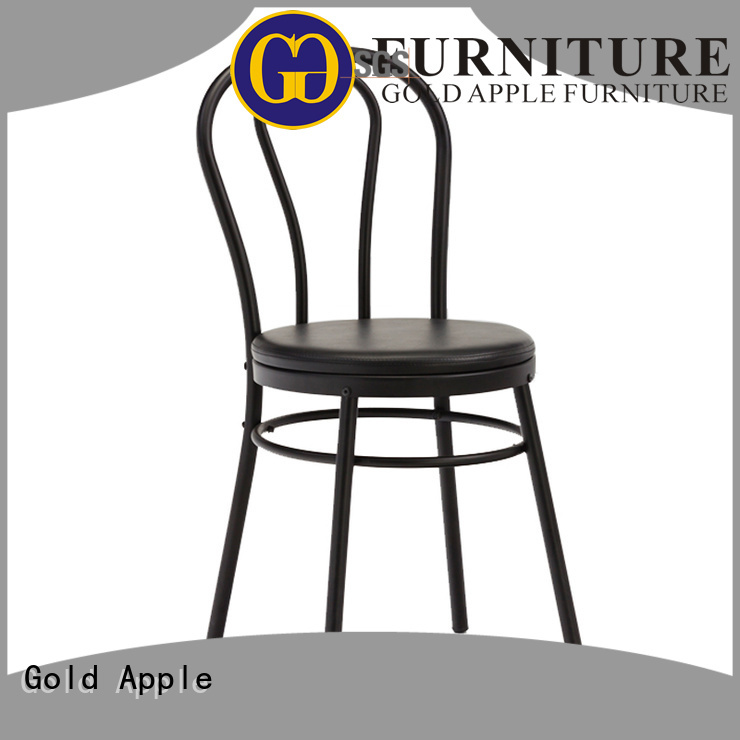 wooden coffee modern Gold Apple Brand upholstered dining chairs with metal legs factory