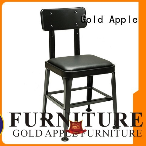 Gold Apple Brand room upholstered dining chairs with metal legs chinese supplier