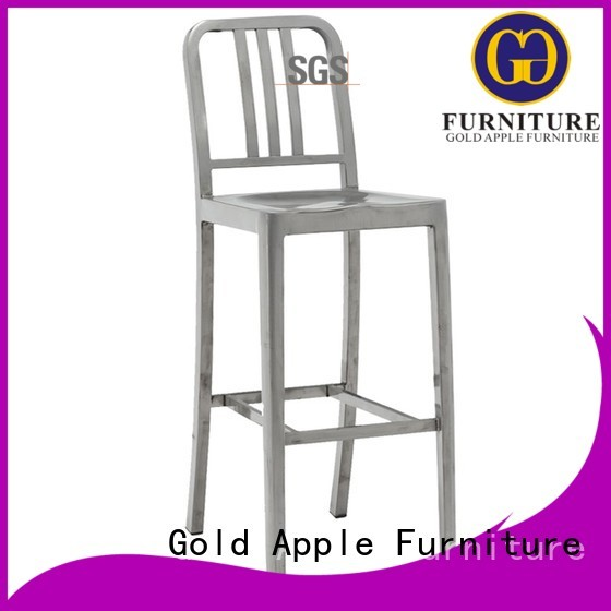cafe bar comfortable sale outdoor wooden bar stools Gold Apple Brand