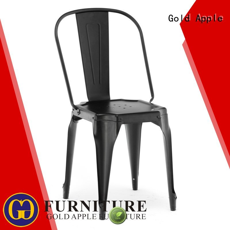 commercial room furniture Gold Apple Brand metal dining chairs with arms factory