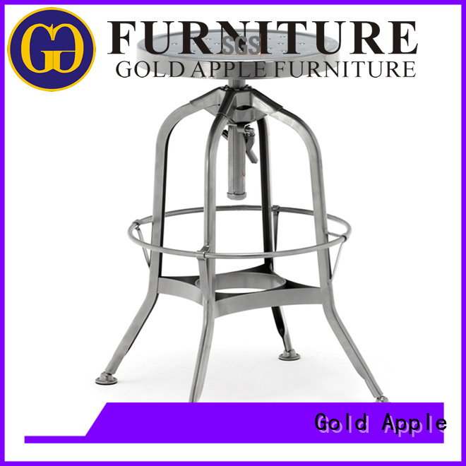 french Custom ash bar stool supplier coffee Gold Apple
