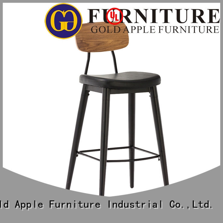 Gold Apple Brand vintage upholstered bar stools modern factory