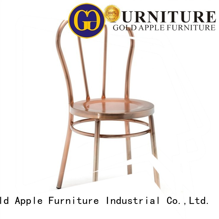 wicker dinning design metal dining chairs Gold Apple