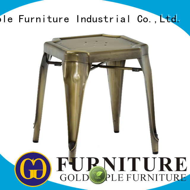 seating round gold low stool Gold Apple Brand