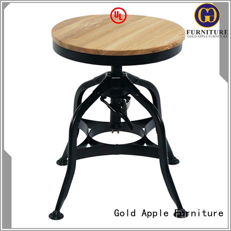 bistro height Gold Apple Brand round swivel bar stools