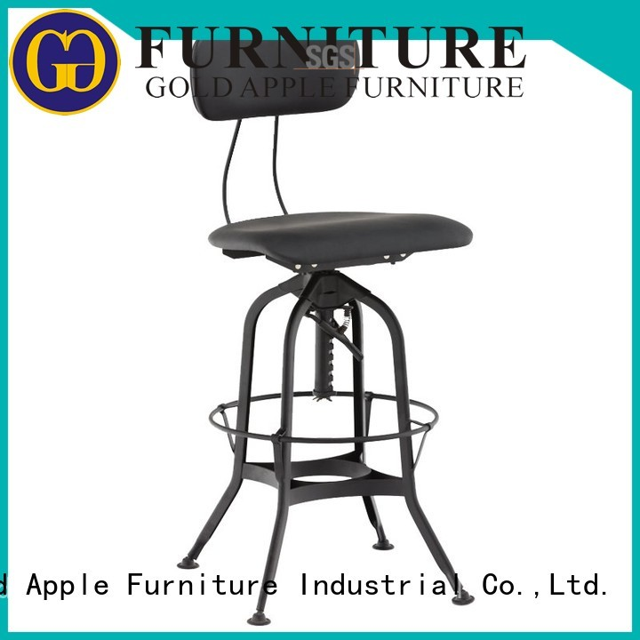 Quality Gold Apple Brand upholstered bar stools with backs and arms restaurant
