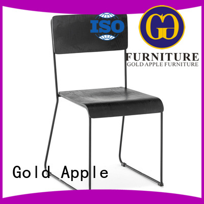 Hot metal dining chairs commercial Gold Apple Brand