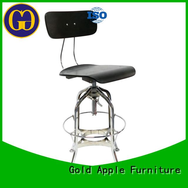 wooden cushion stools adjustable round swivel bar stools Gold Apple Brand
