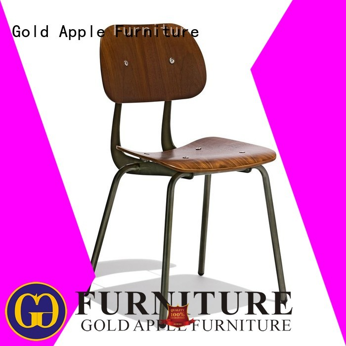 molina outdoor OEM metal dining chairs Gold Apple