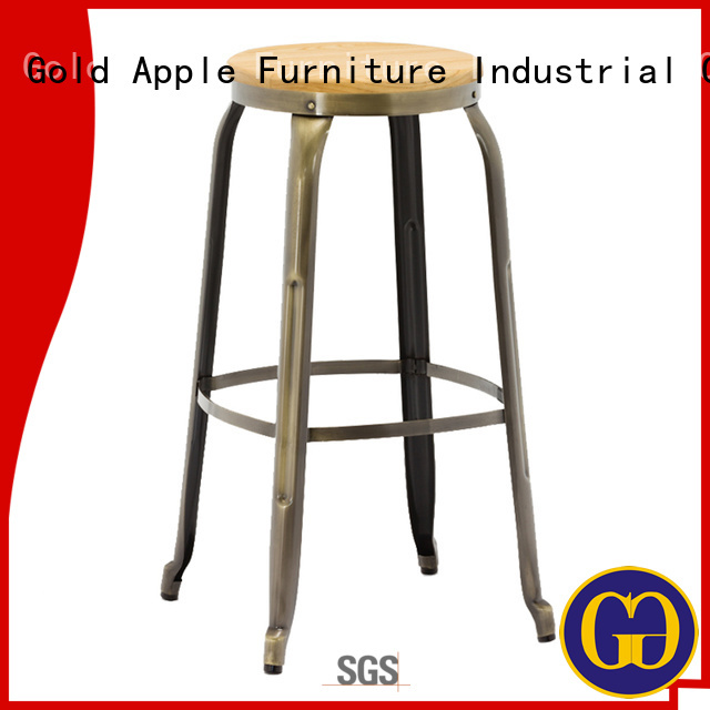 Gold Apple Brand vintage design sale wooden stool chair