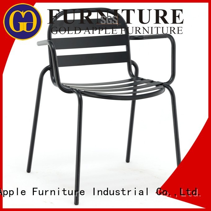 event cafeteria OEM metal dining chairs Gold Apple