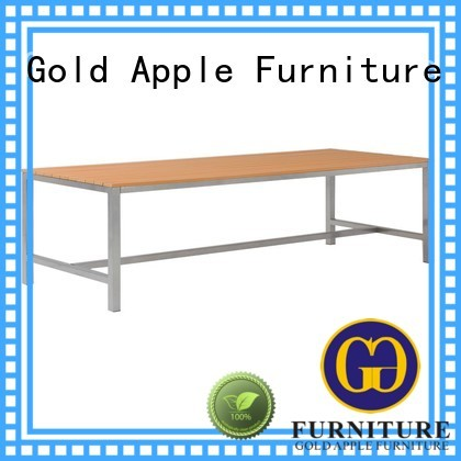 Hot long wood patio table furniture party Gold Apple Brand