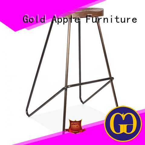 wooden stool chair seat top wooden swivel bar stools Gold Apple Brand