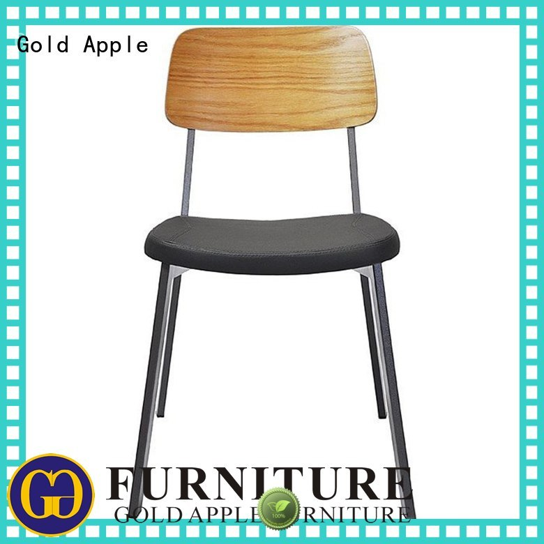 Gold Apple Brand dining restaurant custom upholstered dining chairs with metal legs