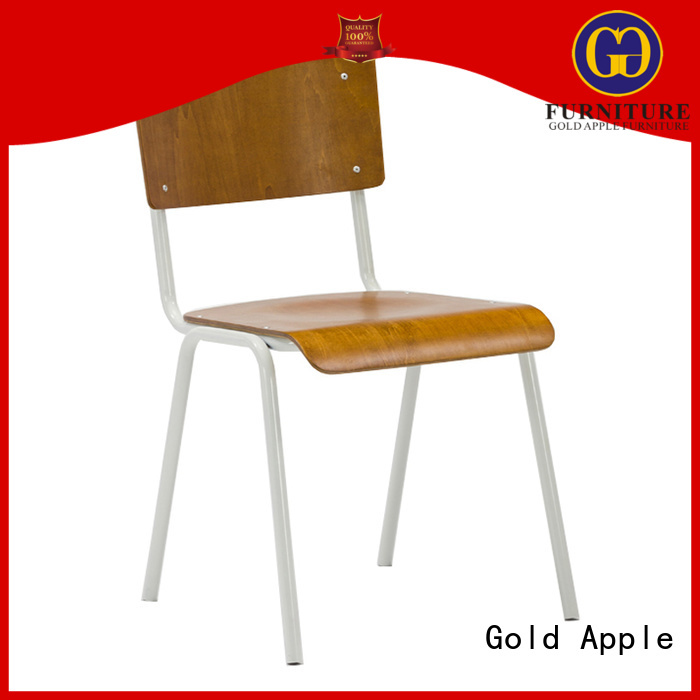 Hot stackable office chairs reatanurant Gold Apple Brand