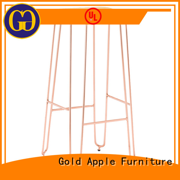 pvc fashion upholstered counter stools Gold Apple Brand