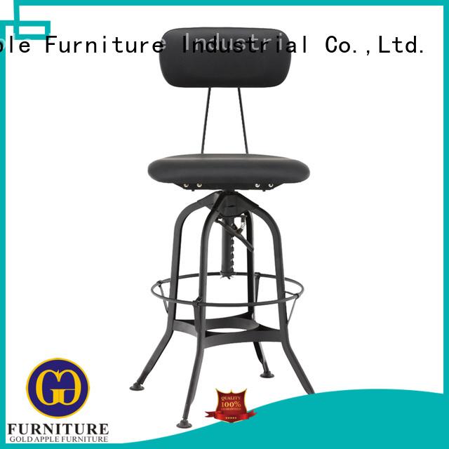 counter Custom unique style swivel stool Gold Apple swivel
