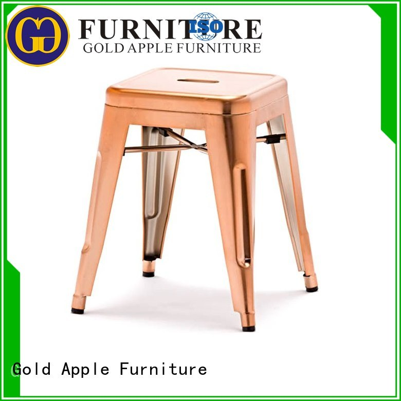 Gold Apple Brand mirror adjustable low stools for sale low