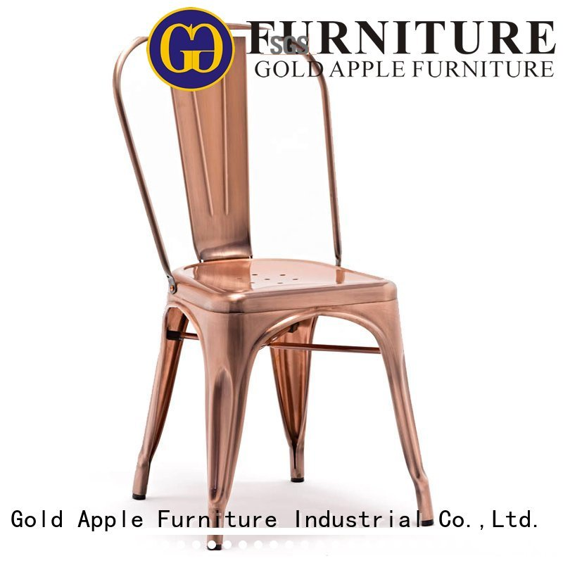 metal dining chairs with arms side Gold Apple Brand metal dining chairs