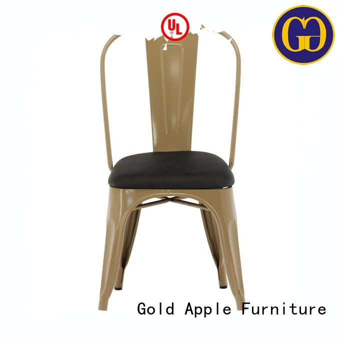 restaurant Custom selling conference stackable office chairs Gold Apple metal
