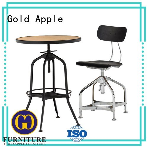 Gold Apple Brand shop table kitchen custom 4 person dining table set
