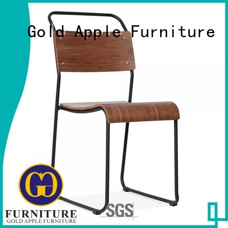 Gold Apple Brand cafeteria sturdy lucy metal dining chairs