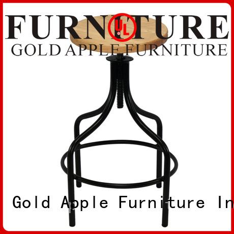 sale swivel adjustable backs Gold Apple Brand wooden swivel bar stools supplier