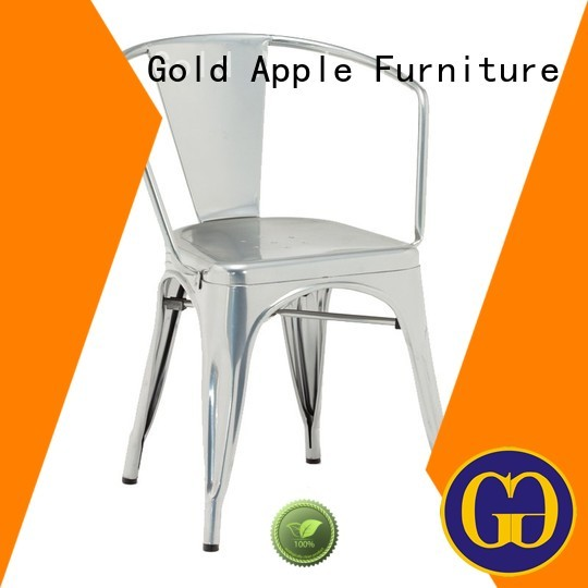 metal dining chairs with arms oak Gold Apple Brand metal dining chairs