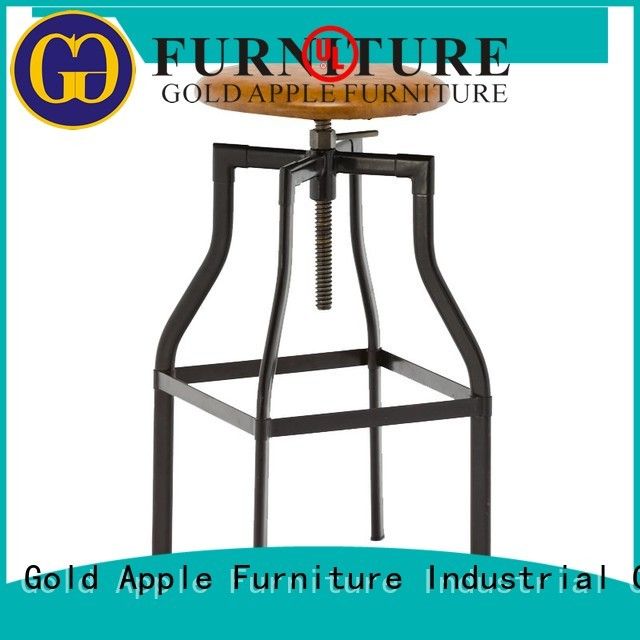 Quality Gold Apple Brand upholstered bar stools with backs and arms vintage seat