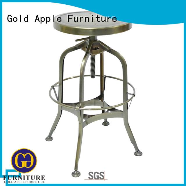 Gold Apple Brand stools round swivel bar stools wood supplier
