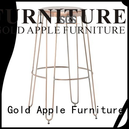 Quality Gold Apple Brand outdoor wooden bar stools ash style