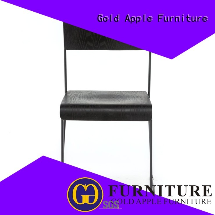 Gold Apple Brand selling cafe shop stackable office chairs